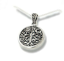 """Celtic Tree of Life Art Sterling Silver Pendant & Chain 18"""" Necklace"""