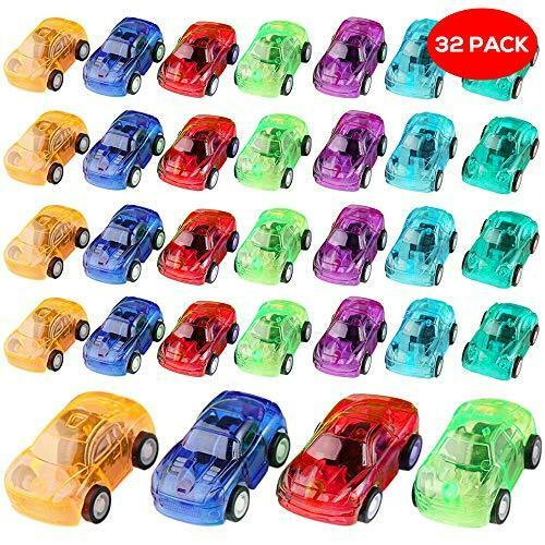 The Twiddlers 32 Assorted Mini Pull Back Toy Cars  Construction Vehicles Bulk S