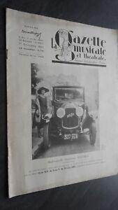 La Gaceta Musical Y Teatro Journal Semanal Demuestra ABE Oct.1921 N º 22