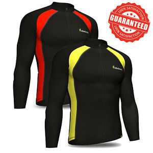 Didoo Men s Cycling jersey long sleeve Thermal Jacket full zip ... c37668e47