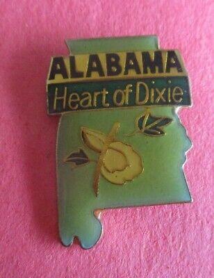 Vintage Alabama Heart of Dixie HatLapel Pin