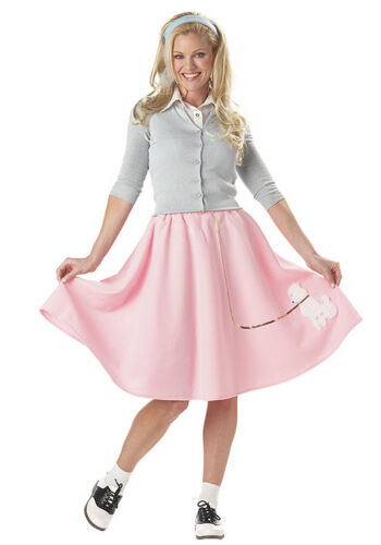 all sizes for Women Pink Poodle Skirt New by Cal Costume 00830