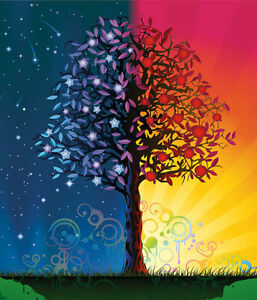 Details About Day And Night Tree Art Fantasy 3d Full Wall Mural Photo Wallpaper Home Decal Kid