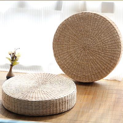 Coussin à Siège en Paille Fait à Main Décoration Maison Magasin 40cm Tatami