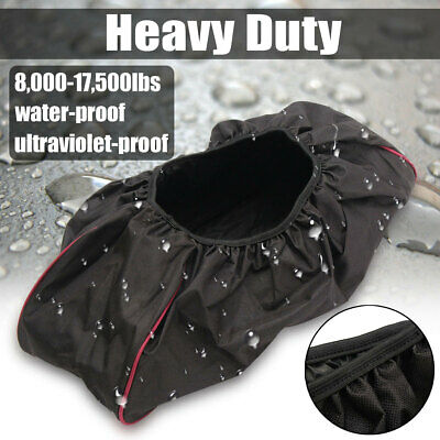 Winch Protection Cover,Waterproof Anti-dust Soft Winch Cover 8,000-17,500 lbs
