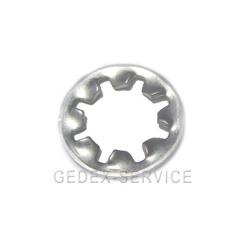 Zahnscheiben DIN 6797 J M2 bis M20    EDELSTAHL A2 V2A  Innenverzahnt Form J GEDEX | Export  4a52b8