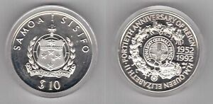 SAMOA-SILVER-PROOF-10-TALA-COIN-1992-YEAR-KM-109-40th-ANNI-REIGN-OF-QUEEN