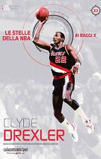 LIBRO BOOK N° 33 CLYDE DREXLER LE STELLE DELLA NBA AI RAGGI X