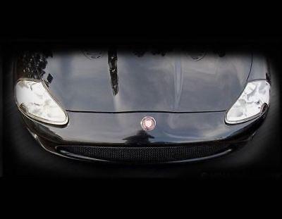 "Jaguar XKR Custom /""supercharged/"" Hood Mesh Grille Louvers free ship"