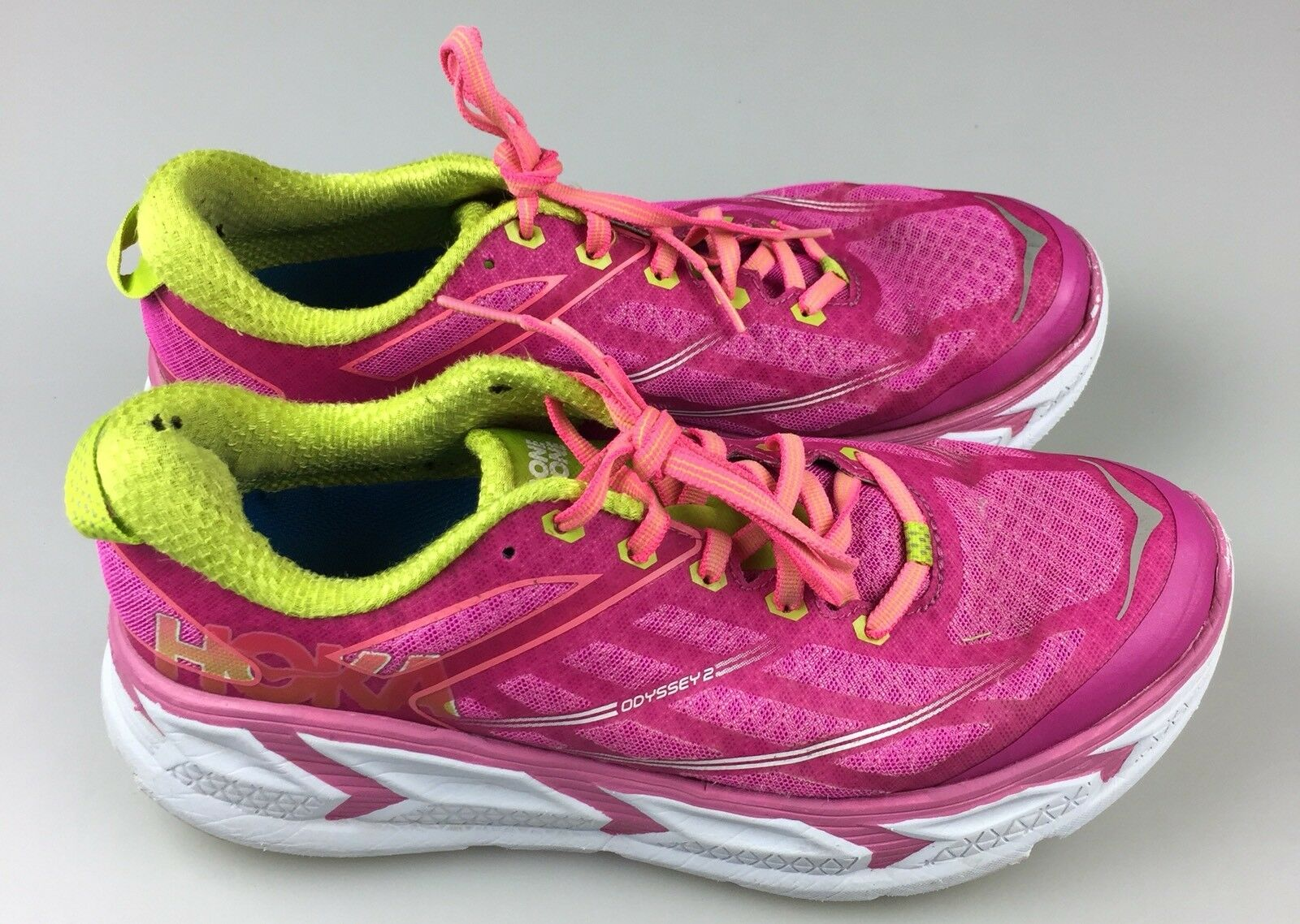 Women's Size 9 Hoka One One Pink Odyssey 2 Running Training Athletic Shoes