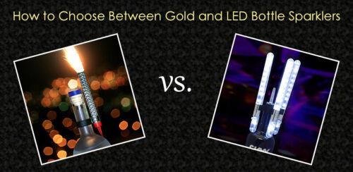 LED Bottle Service Sparklers VIP Nightclubs Led Sparklers Bottle sparklers Mini