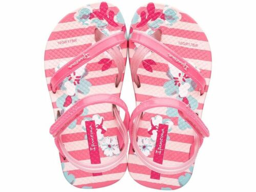 Baby Girls Ipanema Pink Floral Soft Flip Flops Sandals Sizes UK Baby 3-8.5