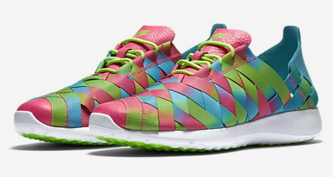 NIKE JUVENATE WOVEN PREMIUM 833825-400 Gamma Blue Electric Green Pink Women's