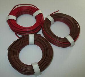 0-397-M-Twin-Braid-Wire-Red-Braun-3-x-5m-034-New-034