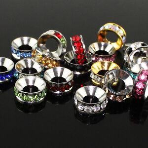 10Pcs-Czech-Crystal-Spacer-Big-Hole-Charms-Beads-10mm-for-European-Bracelets-DIY