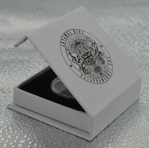 Cadeau//Présent. Soixante//soixantième 60th Anniversaire commémorative en Argent en Boîte Cadeau