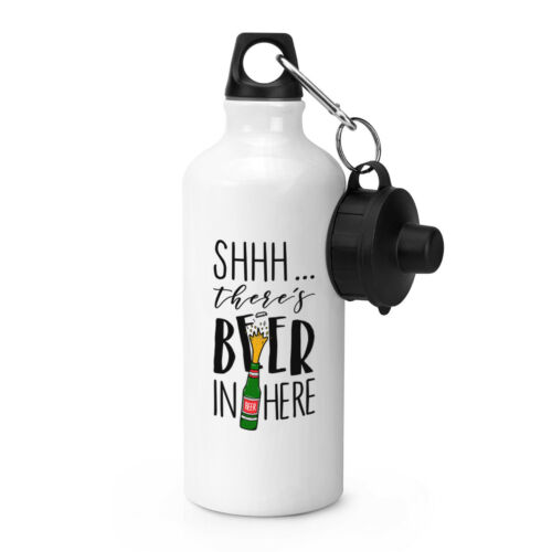 Funny Lager Ale Shhh There/'s Beer In Here Sports Drinks Bottle Camping Flask