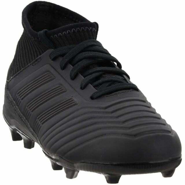 adidas Predator 18.3 Firm Ground Junior Kids Boys Soccer Cleats     - Black -