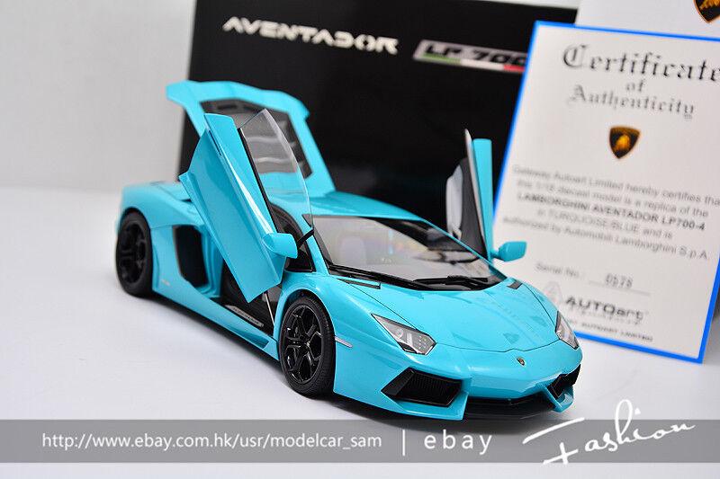 bilkonst 1 18 lamborghini Aventador LP700 -4 blå