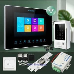 """HOMSECUR 7"""" Wired WIFI Video&Audio Smart Doorbell Card Access for Home Security"""