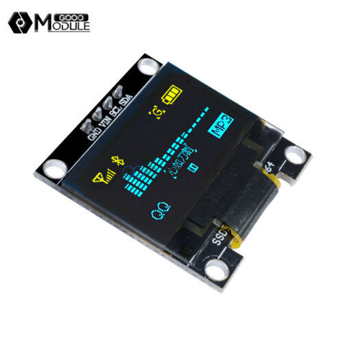 "0.96/"" I2C 4PIN 128X64 OLED IIC Serial LCD LED Display Module White//Yellow//Blue"