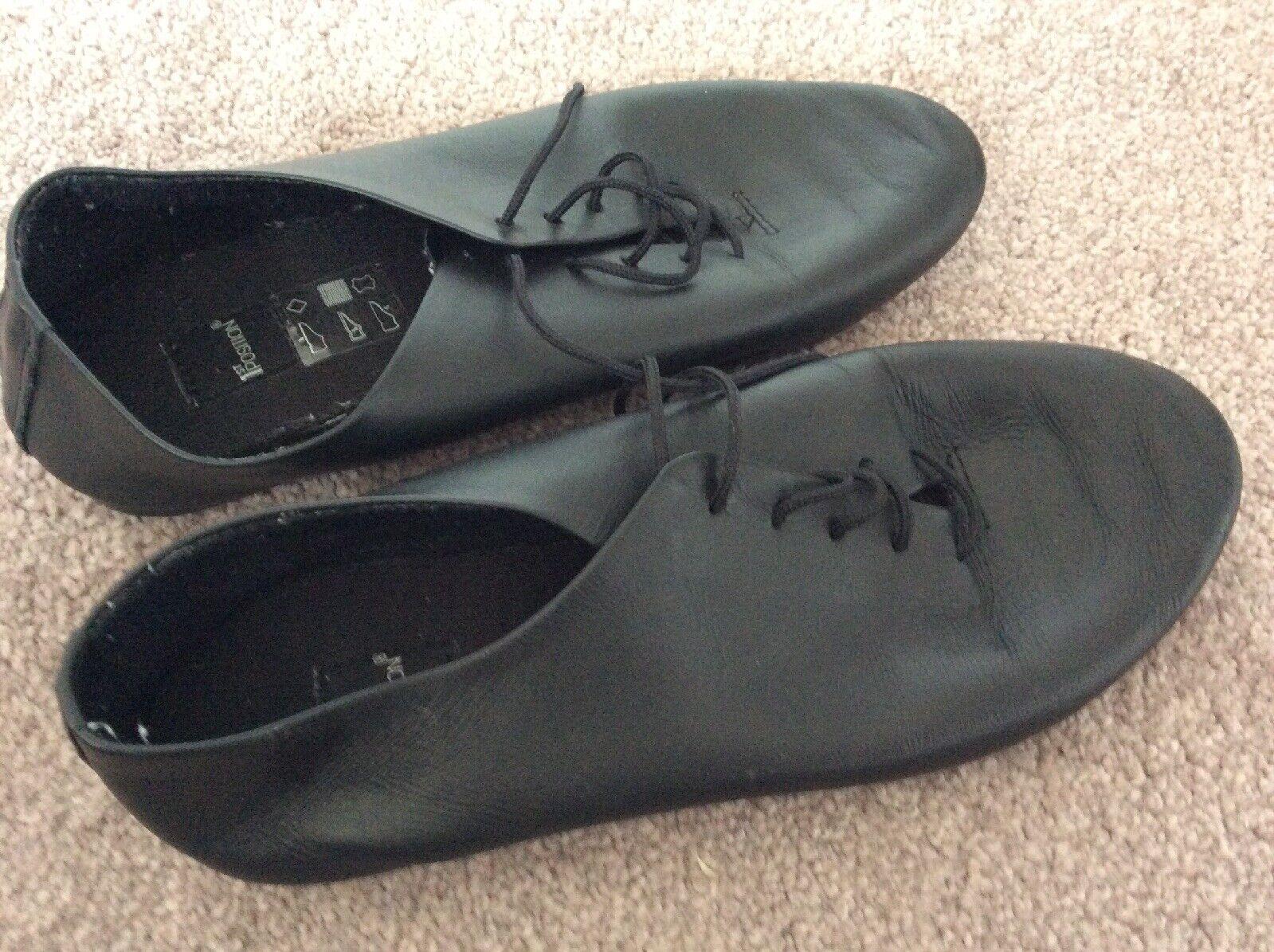 Girls 3 Dance Ballet Shoes 1st Position black flat laces