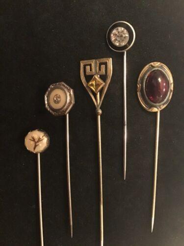 Antique Art Deco Stick Pin Brooch lot of 5.