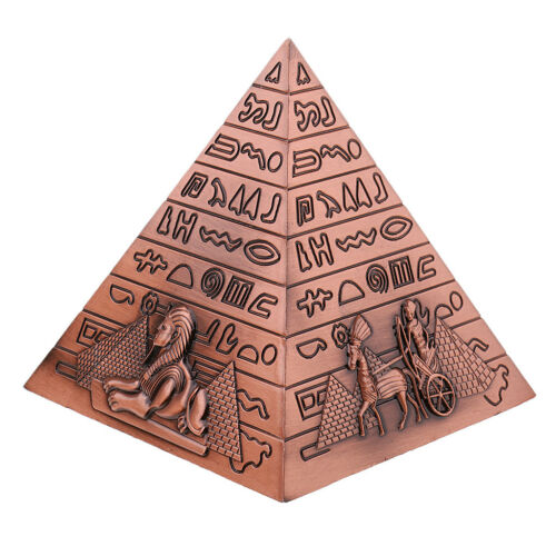 10cm Metal Building Model Toy Pyramid Statue Gift for Boys//Girls//Adults//Kids