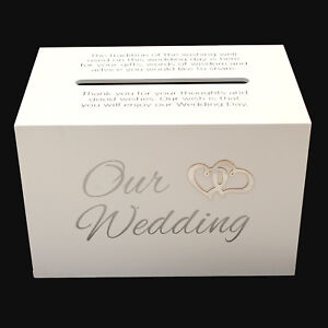 Our-Wedding-Wishing-Well-White-Gift-Card-Money-Box-Cardholder-Engagement-Gift