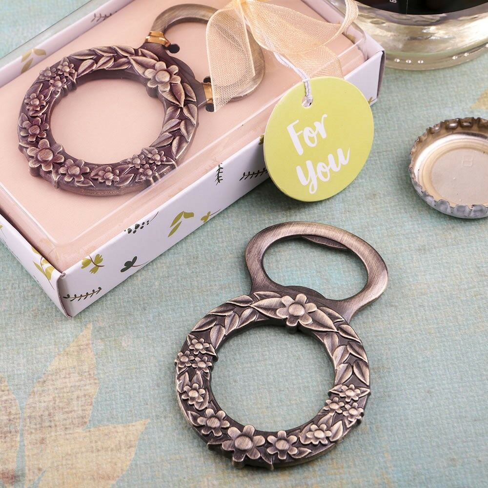 40 Floral Wreath Bottle Openers Wedding Bridal Baby Shower Birthday Party Favors