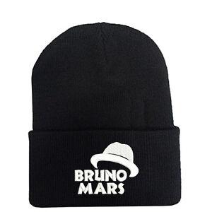 BRUNO MARS BEANIE SKULL CAP HAT FOR FANS FEDORA LOGO SOUVENIR GIFT ... 710bd3cd2ee