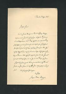JURGEN BONA MEYER: signed 1887 letter by German philosopher * Bonn * Neo-Kantian