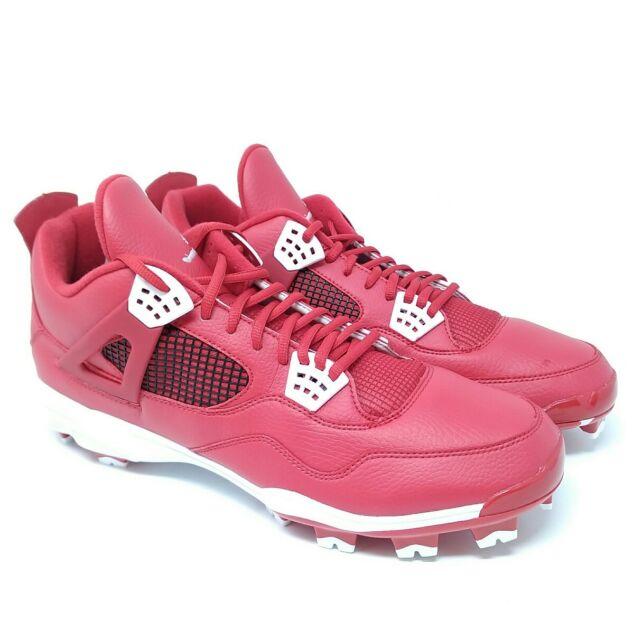 buy popular 260a0 74ab3 NEW Men s Nike Jordan IV Retro MCS Baseball Cleats Size 15 Red White 807709  601