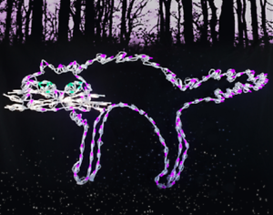 NEW-Halloween-Scary-Arched-Cat-Outdoor-LED-Lighted-Decoration-Steel-Wireframe