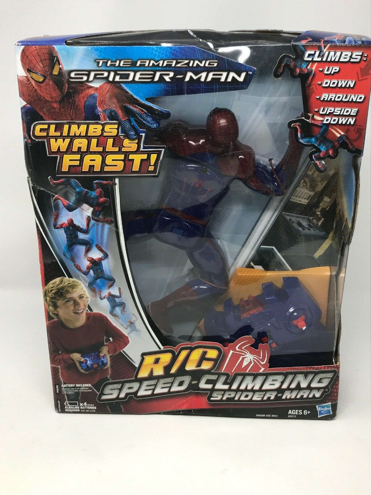The Amazing Spider-Man R C Speed-Climbing Hasbro Marvel Brand New 2011 12