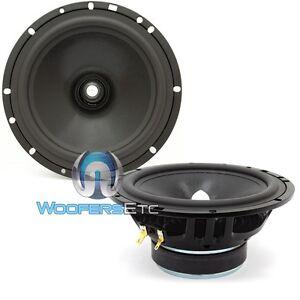 "CDT AUDIO CL-6.2 6.5"" CAR AUDIO 250W 2-OHM CARBON MIDRANGE MIDS SPEAKERS PAIR"