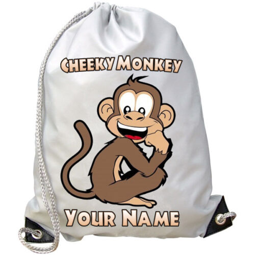 SWIMMING DANCE BAG GREAT GIFT /& NAMED TOO PE MONKEY PERSONALISED GYM