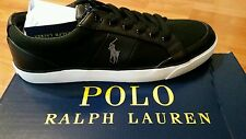 New Men's Polo Ralph Lauren Ian Black Logo Sneakers Size 12D
