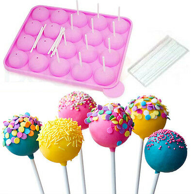 SILICONE NON STICK CAKE POP SET BAKING TRAY MOULD BIRTHDAY PARTY COOKWARE