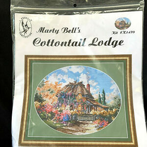 Pegasus-Originals-Cottontail-Lodge-by-Marty-Bell-Counted-Cross-Stitch-Kit