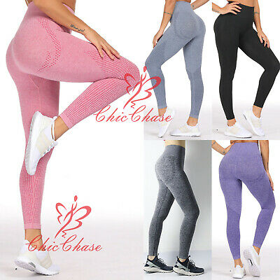 Uk Women's Vital Seamless Leggings Gym Sportswear Yoga Running Training Fitness Waren Des TäGlichen Bedarfs