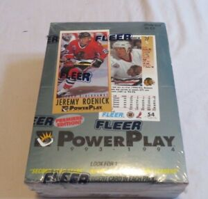 1993-94-Fleer-PowerPlay-NHL-Series-1-Sealed-Box-Of-Hockey-Cards-36-Packs