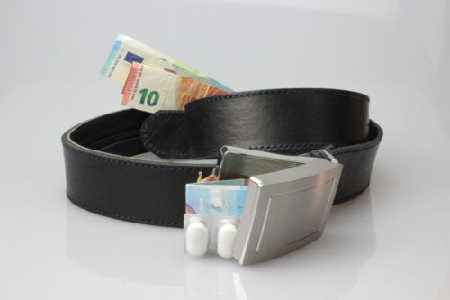 2 en 1 pratique voyage-ceinture coffre-fort ceinture avec tiroir secret Buckle vollleder