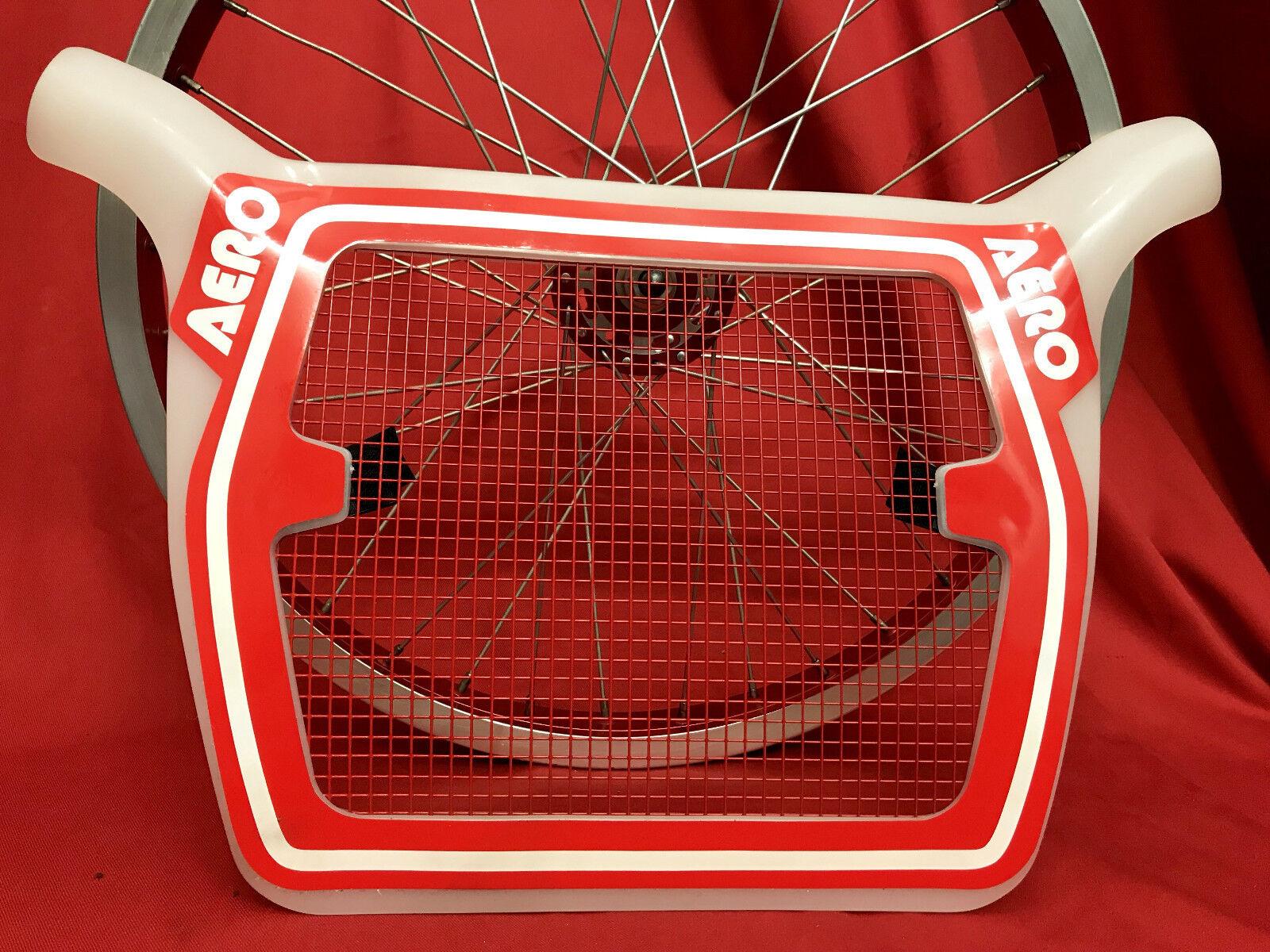 100% NOS BMX oldschool original packed rare AERO race TECH MESH plate panel rot