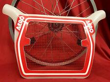 100% NOS BMX oldschool original packed rare AERO race TECH MESH plate panel red