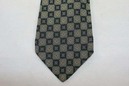 Coach Pure Silk Multicolor Geometric Italian Tie