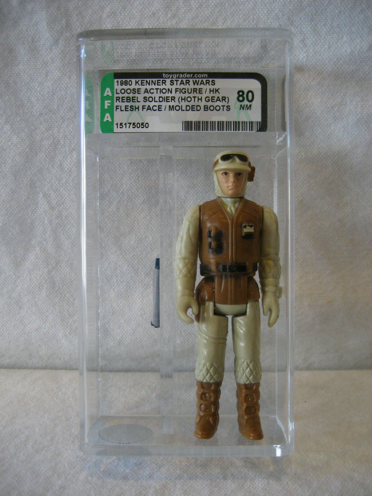 AFA 80 vintage Star Wars REBEL SOLDIER Hoth figure Kenner 1980 MOLDED stivali Rare