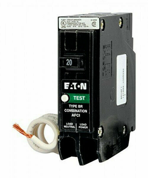 New Circuit Breaker Eaton Cutler Hammer BRCAF120 Combination AFCI 20 Amp 1 Pole
