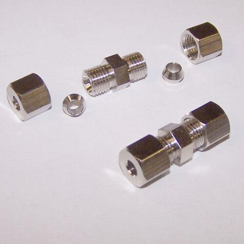 5m Bremsleitung 6 mm 2 x Bördelfreie Verbinder Kein Spezialwerkzeug nötig