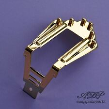 CORDIER Guitare MANOUCHE style SELMER GIPSY JAZZ Brass TAILPIECE GOLD FINISH